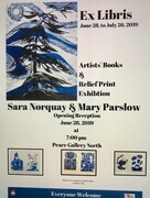 Poster for Ex Libris Book and Print show